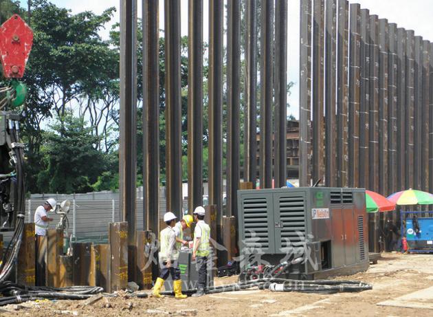 中鸿焰鑫森域钢板桩工程使用案例